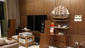 Công trình hoàn thành loa Audio Physic và Bladelius tại nhà anh Hòa - Park City