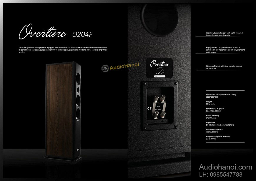 Loa AudioSolutions Overture O204F hay